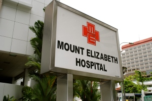 The hospital in Singapore