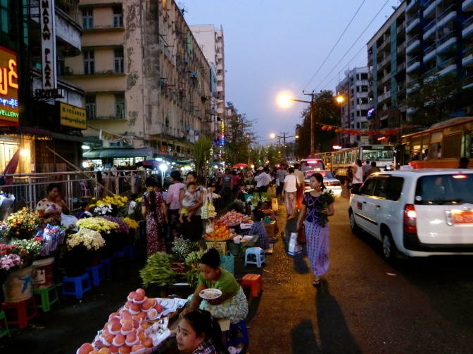 Dinner at Yangon night market
